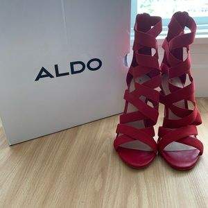 Red Strappy Aldo Sandals Size 8.5